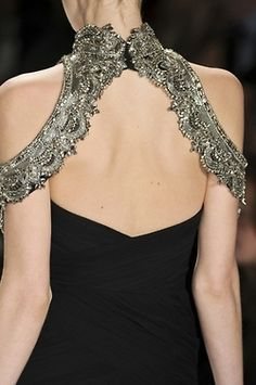 Beautiful beading detail if you go for a black wedding dress