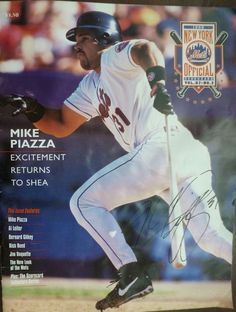 1998 New York Mets Official Scorecards Mike Piazza Cover- Vol. 37 No.2