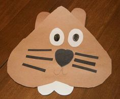 Cute Heart Groundhog Craft