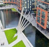 London's New Footbridge Rises Like A Fan Over Grand Union Canal