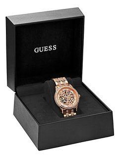 Elegant Automatic Watch – Rose Gold | GUESS.com