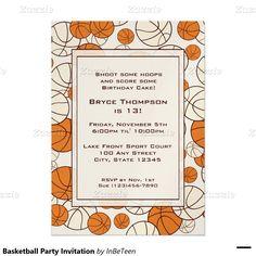 バスケットボールのパーティの招待状 12.7 X 17.8 インビテーションカード