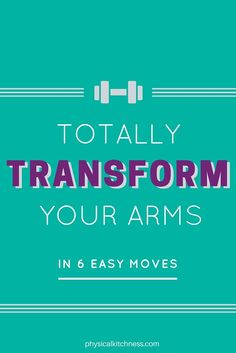 arm workout for total sculpting and toning. Isolated movements target biceps, triceps and shoulders. Transform your arms in 6 moves. Easy Arm Workout, Barre Workout, Boxing Workout, Easy Workouts, At Home Workouts, Get Toned, Toned Arms, Arms And Abs, Shoulder Workout