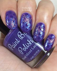 ehmkay nails: Paint Box Polish Solstice and Purple Monochromatic Nail Art