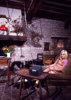 France Gall (Isabelle Genevieve Marie Anne Gall) at home in 1967