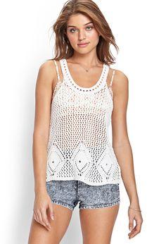 Crochet Knit Tank Top   FOREVER21 #SummerForever #Crochet