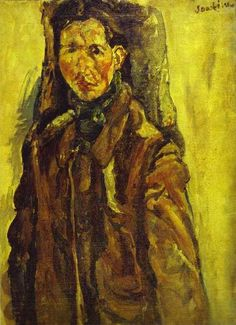 Chaim Soutine (French-Jewish-Belarusian: 1893 – 1943) - Self Portrait by Curtain (1917)