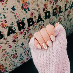 """87 Likes, 8 Comments - ALYSSA LEIBNER (@alyssaleibner) on Instagram: """"celebrating my champagne bday this weekend with the best nails... obsessed with the matte almond &…"""""""