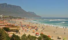 Beach sunny Cape Town, South Africa