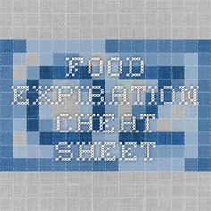 Food Expiration Cheat Sheet