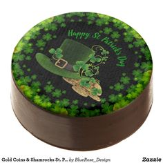 Patrick's Day Chocolate Covered Oreo created by ManCavePortal. Cookie Icing, Oreo Cookies, Chocolate Dipped Oreos, Oreo Pops, Cookie Gifts, Party Treats, Gold Coins, Confectionery