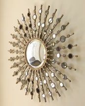 Cool starburst mirror for the guestroom. I'm pretty sure that I can make that!