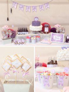 TIPS CANDY BAR PERFECTA: candy bar, mesa de dulces, dessert table, para bodas, comuniones, bautizos, empresa, eventos,... #Candybar #comunion #lila #violetta #violeta Mesa de dulces Violetta www.sweetemotion.es