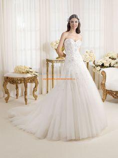 Wunderschön Elegant Brautkleider aus Softnetz