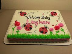 Lady Bug Baby Shower Cake ... for Sweet Caroline : )
