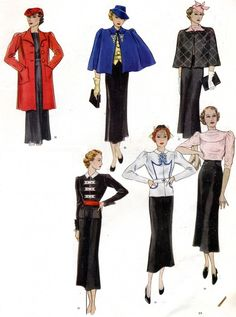 From the French fashion magazine Modes et Travaux (1930's)
