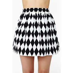 Diamond Cut Skater Skirt ($48) ❤ liked on Polyvore featuring skirts, bottoms, blue circle skirt, high-waisted skater skirts, blue high waisted skirt, high rise skirts and high waisted skirts