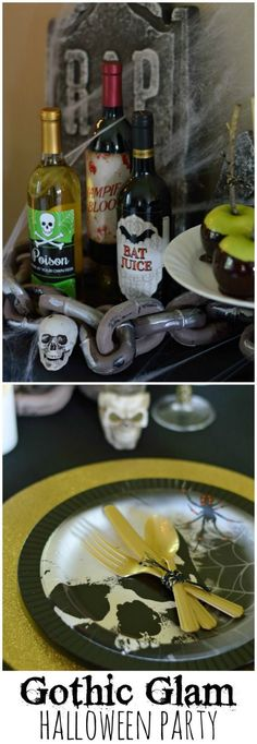 Gothic Glam Halloween Party Decor Ideas! http://theblueeyeddove.com