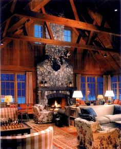 traditional family room by David Fleener Architects, Inc.