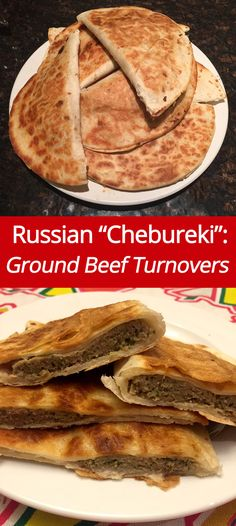 Russian Chebureki Recipe - Ground Beef Turnovers! (from MelanieCooks.com)