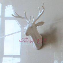 Настенный висит мини голова оленя охота трофейного скульптура, как таксидермия…