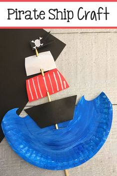 Fun craft for all pirate fans! This pirate ship craft is made with simple supplies and cleans up quickly and easily!