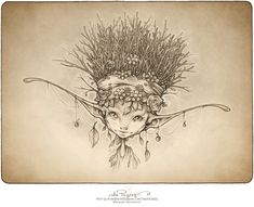 We are so excited to share this new art picture with all of you. It's a portrait of a wee winterqueen and they are rather special little beings. Portrait of a wee Winterqueen Artwork Fantasy, Fantasy Drawings, Gothic Drawings, Fantasy Tattoos, Fairy Drawings, Pencil Art Drawings, Kunst Inspo, Art Inspo, Fantasy Creatures