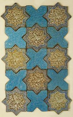 Panel of tiles. Persian, 15th century.