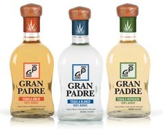 """Gran Padre, a """"Top Shelf"""" hand crafted tequila from Mexico, needed to create a brand that would be noticed domestically and internationally. Inward Solutions created the identity of the Tequila as well as designed the bottle. #granpadre #tequila #packagedesign #inwardsolutions"""