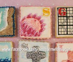 Hand painted Protea cookie #smittenwithsugar #glorytogod #protea #kingprotea #proteacookie