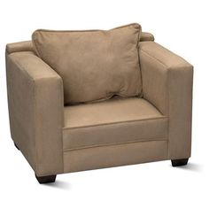 Kid's Modern Chair, Tan Microfiber - Walmart.com $74 .46