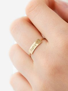 Diamond Jewelry, Jewelry Rings, Silver Jewelry, Silver Rings, Jewellery, Kids Rings, Gold Ring Designs, Name Rings, Gold Diamond Wedding Band
