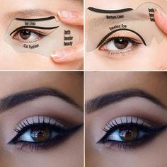2 Set of women's fashion videos smoky cat eye makeup eyeliner Beauty Tools - Black Source by Tools Cat Eye Makeup, Eye Makeup Tips, Beauty Makeup, Makeup Ideas, Makeup Tutorials, Makeup Basics, 50s Makeup, Makeup Set, Fashion Videos