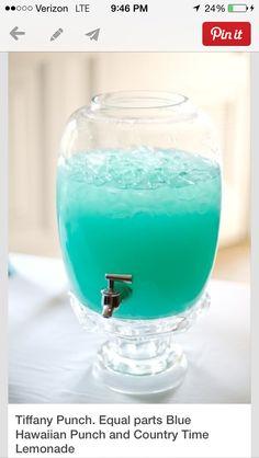 Tiffany blue punch