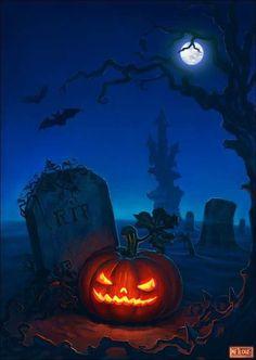 Halloween, All Hallows Eve, Trick or Treat Retro Halloween, Halloween Kunst, Image Halloween, Halloween Artwork, Theme Halloween, Halloween Painting, Halloween Pictures, Halloween Wallpaper, Halloween Horror