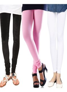 Buy Cotton Lycra Leggings Combo Of 3 online at best price with Free Shipping.