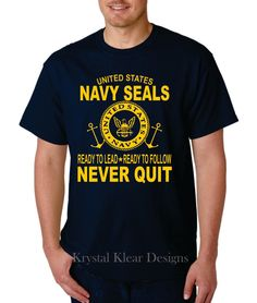 Navy Seal - Navy Blue, Short Sleev T-shirt by KKDcustomized on Etsy