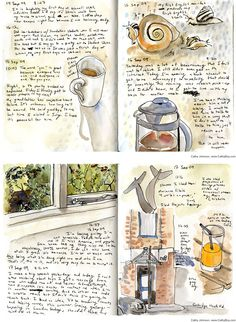 Watercolor journals by Cathy G. Johnson