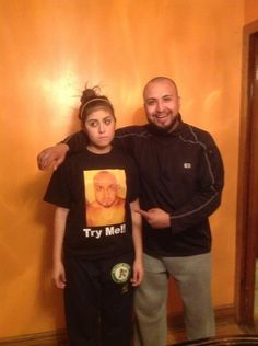 The moment when this dad figured out how to combine a great punishment with a great T-shirt.