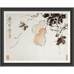 Global Gallery 'Gourds' by Xu Gu Framed Painting Print Size: