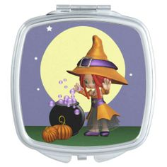 Magical Surprise Witch Compact Mirror. #Witch #CompactMirror #Halloween #Autumn #Samhain #Magical #Moon
