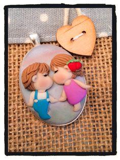 Ciondolo Ato Recover polimer clay handmade fimo art
