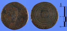 Moeda da caetra (27 a.C). As xoias galegas do Museo Arqueolóxico Nacional.