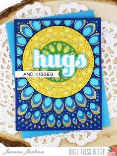 A Kept Life: Birch Press Design Peacock Inspired Grace Panels #card #cardmaking #mandala #stmap #hugs #sugarscript #word #die #grace #coverpanel #background #die