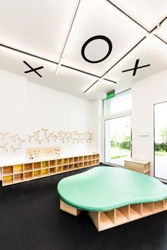 Kindergarden in Chroscice (Poland) designed by PORT | Activated ceiling surface (noughts and crosses theme)