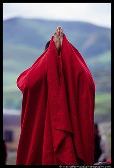 Momento Espiritual en el Tibet.