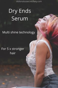 Dry Ends Serum, Multi Shine Technology, leaves hair looking healthy and helps smooth dry damaged hair, pro-vitamin B5 for up to 100% more prismatic shine...find out more... #serum#shine#technology
