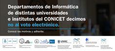 #noalvotoelectrónico Decimos NO al Voto Electronico