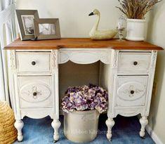 cambio de imagen de la vendimia escritorio, muebles pintados