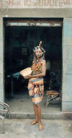 Africa | Fashion from Senegalese designer Oumou Sy, 5th International Fashion Weed SIMOD, Dark, June 2001 || ©Sibylle Bergemann ~ Fashion in Dakar